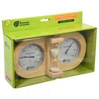 Термометр с гигрометр Банная станция с песочными часами 27х13.8х7.5см