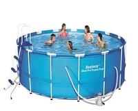 Каркасный круглый бассейн Bestway 56438 (457х122) с картриджным фильтром
